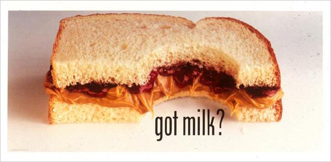 """1993 """"got milk"""" campaign creative"""